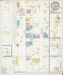 Coleman Michigan Map.Hp 20 X 24 1908 Map Of Coleman Midland County Michigan Sanborn