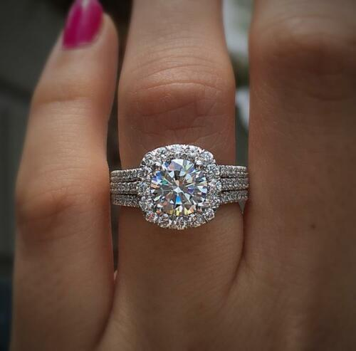 1.50Ct Round-Cut Diamond Solitaire Engagement Ring 10K White Gold Finish