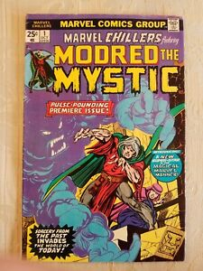 Marvel-Chillers-1-1st-Modred-The-Mystic-BRONZE-AGE-1975-KEY-VF