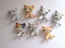 Littlest Pet Shop 7 Short Hair Cats Lot #886 #246 #792/468 #72 #138 #106 #32 LPS