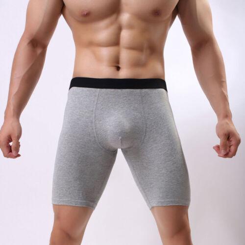 Men/'s Compression Boxer Briefs Long Leg Shorts Sports Tights Workout Underwear