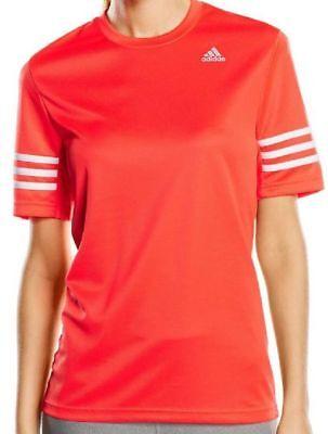 photos officielles 446fe 9ade2 New Adidas Climalite Top, T-Shirt - Orange - Ladies Womens Gym Training  Fitness | eBay