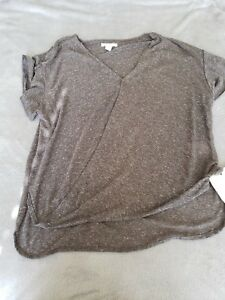 Front Nwt Top Wahre 108 Frauen Charcoal Drape Xs Religion qRxTpXH
