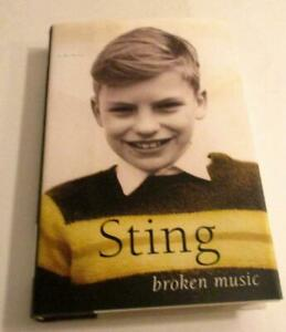 Broken Music by Sting ( Hardcover)  A story very few people know - hv dj