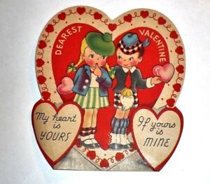 1950/'s Valentine Cards Kid Valentines Used Valentines Vintage Valentine/'s Day Card Lot 1950/'s Greeting Cards