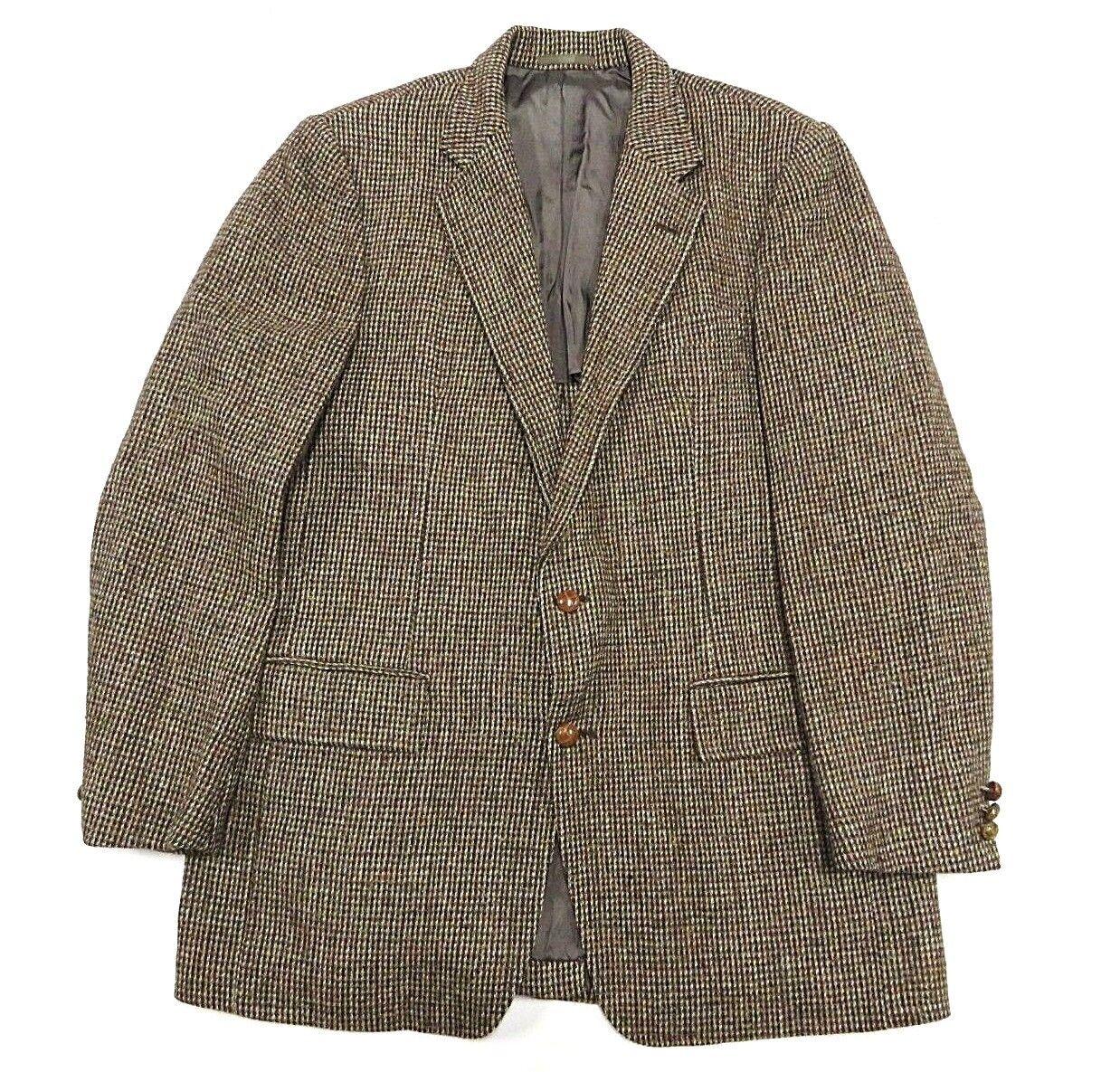 VTG Harris Tweed 100% Pure Scottish Wool Tailored in USA Men's Two Button Blazer