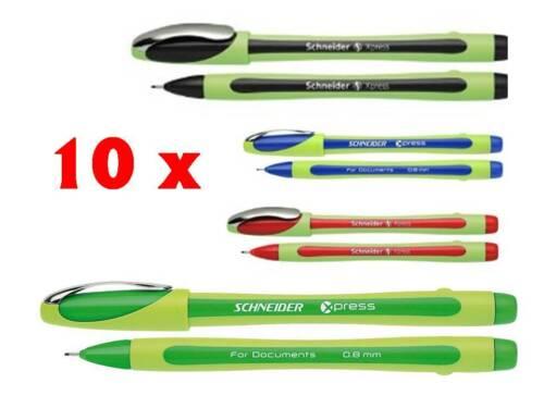 10 x Schneider Xpress Fineliner Faserspitze 0,8 Farbwahl