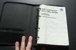 VW Golf / Bora Zusatzanleitung  Bordmappe  BETRIEBSANLEITUNG  von 5/1999 selten