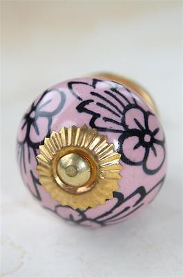 Möbelknopf,Keramik-Möbelgriff,Knauf,Knopf Griff Möbelknäufe Indien Rosa