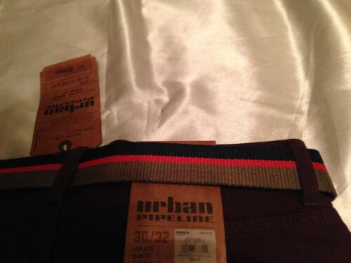 Belt; Burgundy Sz 29/>34 Inseam 30/>34 Men/'s Slim Straight Pants Urban Pipeline