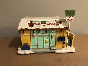 Simpsons Christmas Village.Details About Simpsons Hawthorne Christmas Village Kwik E Mart Coa A7074 Org Box W Bart Figure