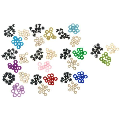 100pcs 18mm Round Safety Eyes Washer For Teddy Bear Glitter Nonwovens