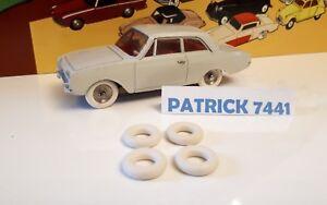 Lot de 4 Pneus 15//8 blanc Dinky toys SIMCA 8