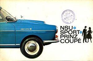 NSU-SPORT-PRINZ-COUPE-DOCUMENTATION-COMMERCIALE-EN-FRANCAIS