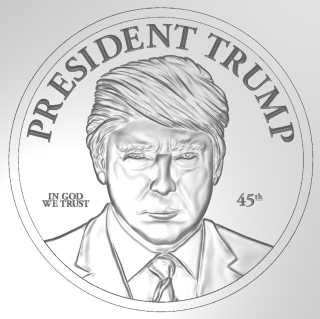 President Donald Trump 1 Oz 999 Pure Silver Pledge Of