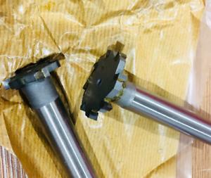 New1pc  25*5*12*100L*6  Carbide tipped T slot cutter  Welding carbide T cutter