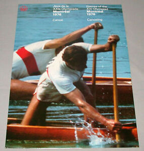 Original-Montreal-76-Summer-Olympic-Official-Canoeing-Poster