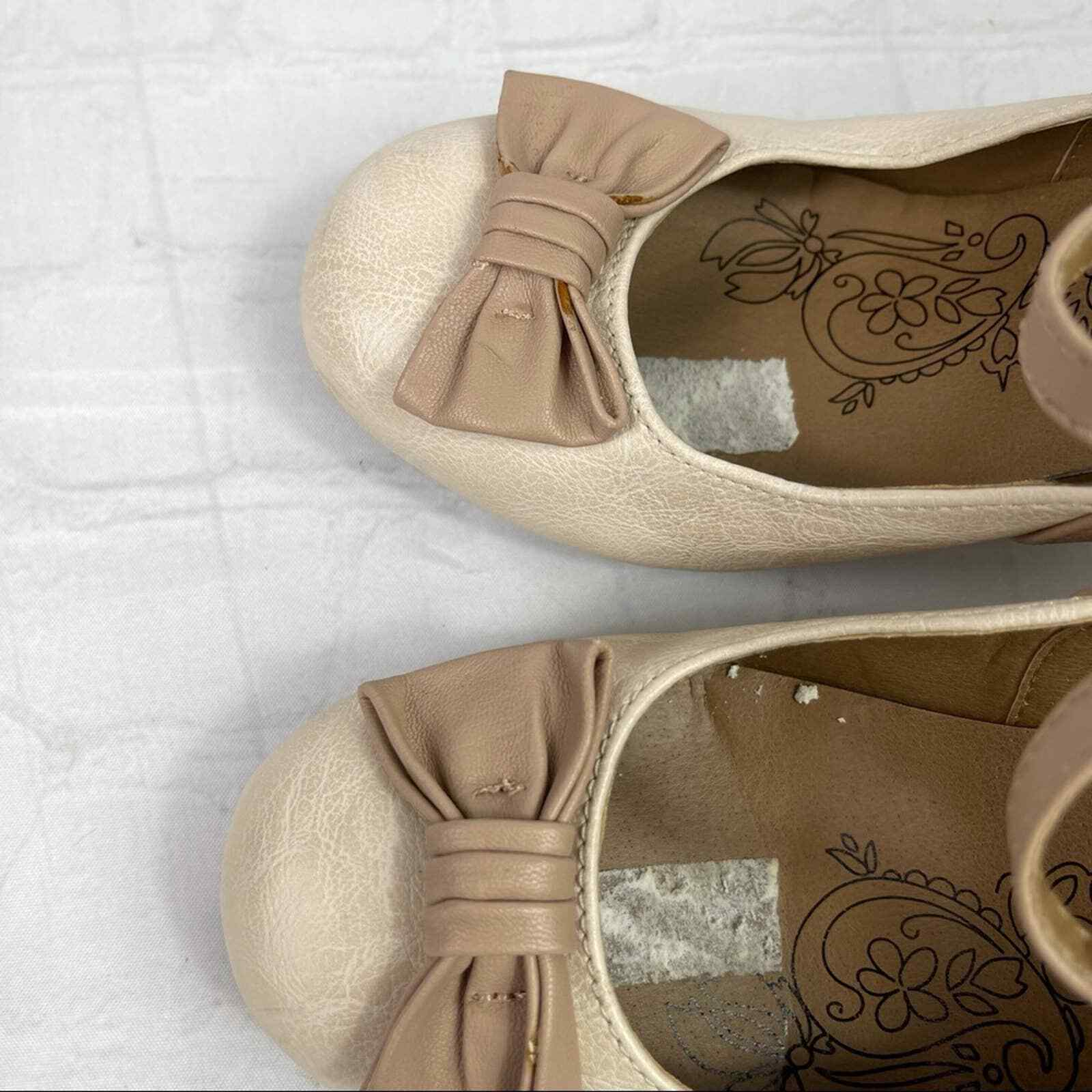 Jelly pop nude bow Mary Jane pumps - image 4
