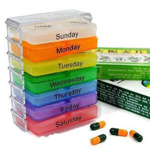 Pillenbox Pillendose Medikamentenbox Tablettenbox Medikamtendose 7 Tage 4 Fächer