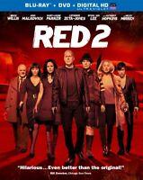 Red 2 [blu-ray, Dvd, Digital Hd], New, Free Shipping
