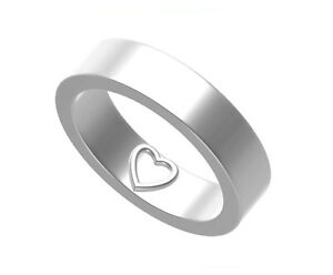 Stunning 925 Sterling Silver Love Heart Imprint Message Wedding