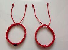 2 Red Kabbalah String Bracelet, Evil Eye, Good Luck Charm Protection.
