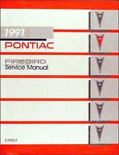 1991 Pontiac Firebird Shop Manual Trans Am GTA Formula Repair Service
