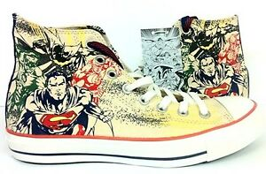 131d4e6f3cae2 New Converse All Star Chuck Taylor DC Comics Superman Batman Khaki ...