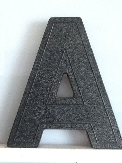 """6"""" Tall Black Slotted Marquee Letters, Numbers and Punctuation"""