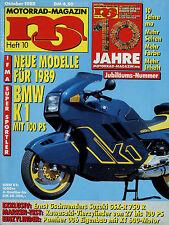 mo 10/88 1988 BMW K 100 RS K1 Kawasaki GPZ 900 R ZXR-7 Suzuki GSX-R 750 Motorrad