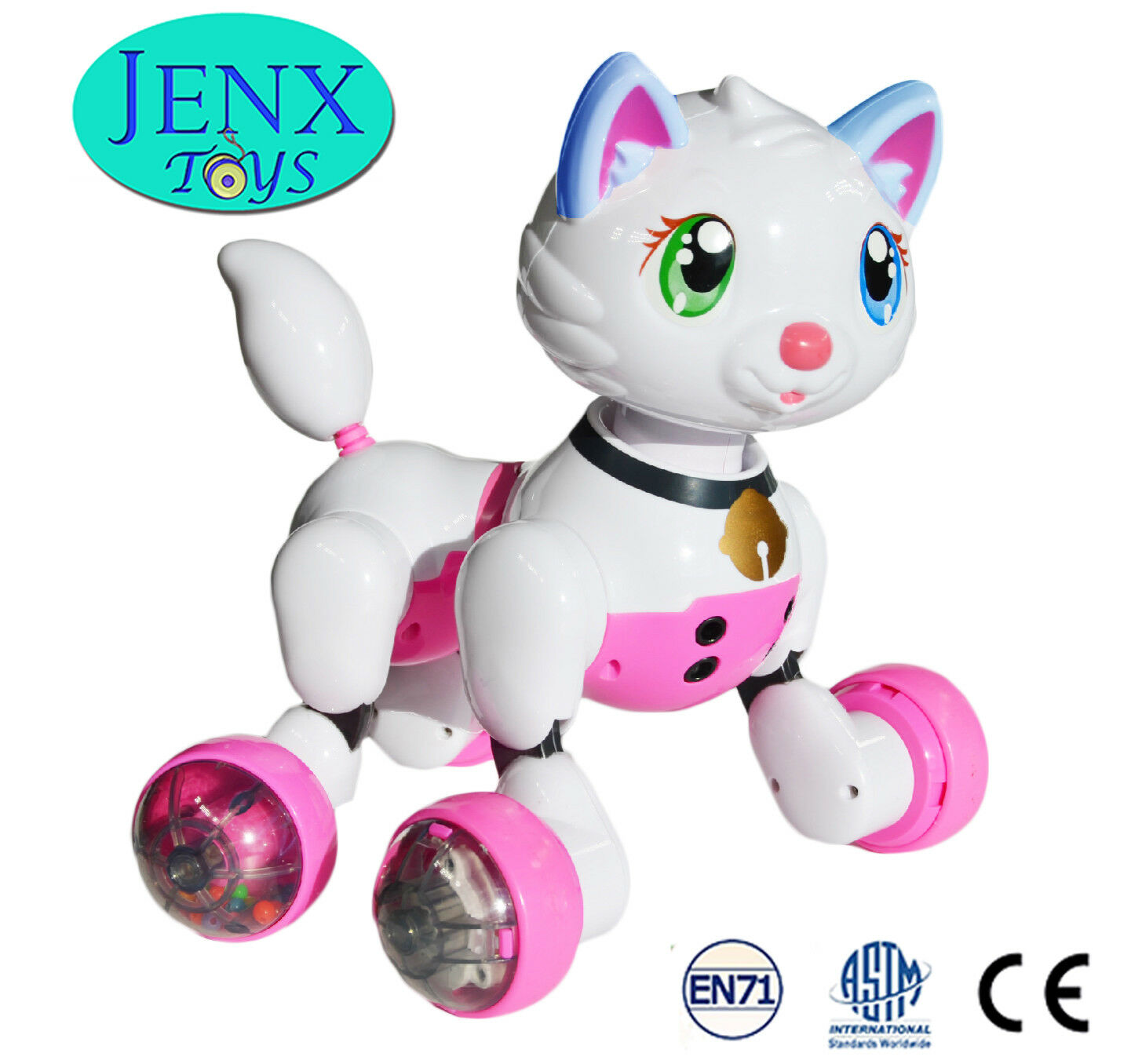 Jenx Toys Voice Recognition Gesture Sensing Electronic Robot Kitten Cat Pet Toy For Sale Online