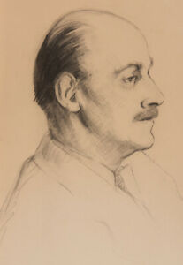 Mid 20th Century Graphite Drawing - Portrait of a Man