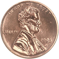 1998-D Lincoln Memorial Cent Uncirculated BU Red Penny Nice No Problem Coin