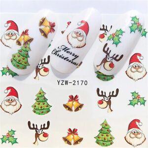 2020 new winter christmas slider nail decals nail art