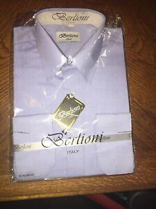 Berlioni-Italy-Men-039-s-Premium-Classic-French-Convertible-Cuff-Solid-Dress-Shirt