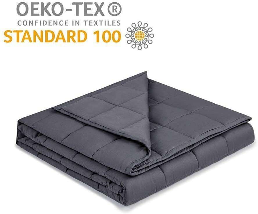 Fits Queen Size Perfect for Adult Women and Man 60 /× 80 Navy Blue 20 lbs Syrinx Cool Weighted Blanket