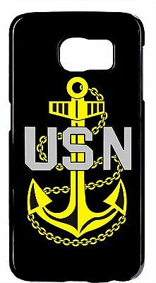US Navy USN Logo Anchor Rubber/Hard Case Cover for Samsung Galaxy or Note Models