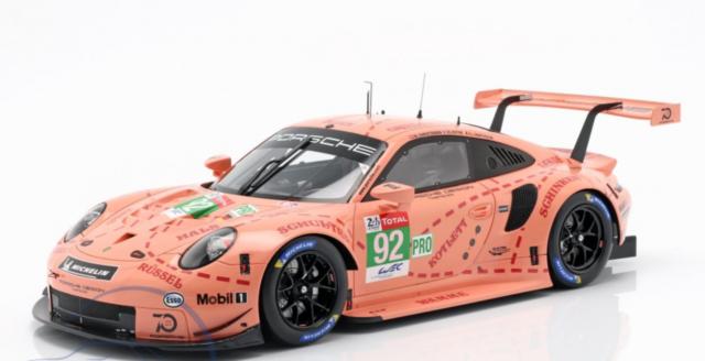 Porsche 911 991 RSR Le Mans Class Winner PINK PIG TRUIE #92 Estrémadure Van S Spark 1:43