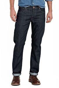 Lee-Daren-Ajustado-Jeans-Conicos-Nuevo-Hombre-Azul-Lavado-Pierna-Recta