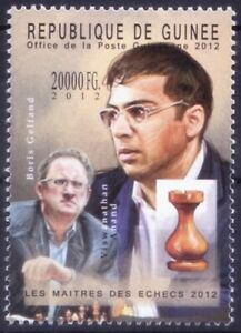 Guinea 2012 MNH, Viswanathan Anand India - Boris Gelfand Israel, Chess, Sports