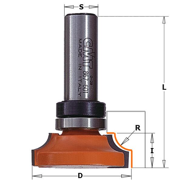 Frese profilate CMT Cod.  867 967.6B