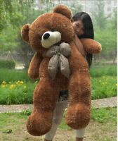 Hot Giant Big Cute Dark Brown Plush Teddy Bear Gift For Girlfriend+fast Ship