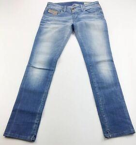Diesel-Womens-Grupee-Super-Slim-Skinny-Jeans-Size-W28-L30-Medium-Wash