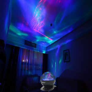 Details About Psychedelic Lamp Light Aurora Borealis Projector Decorative Relaxing Trippy