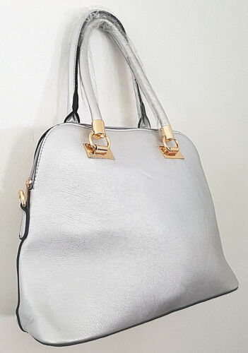 argentᄄᆭ femme en pour ᄄᄂ cuir Sac main moyen simili 5AR4Lq3cj