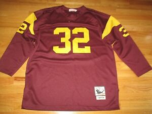 pretty nice 0945c c321b Details about Mitchell & Ness Throwbacks O.J. SIMPSON No. 32 USC TROJANS  (Size 54) Jersey