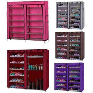 Home-Shoe-Rack-Shelf-Storage-Closet-Organizer-Cabinet-6-Layer-12-Grid-With-Cover