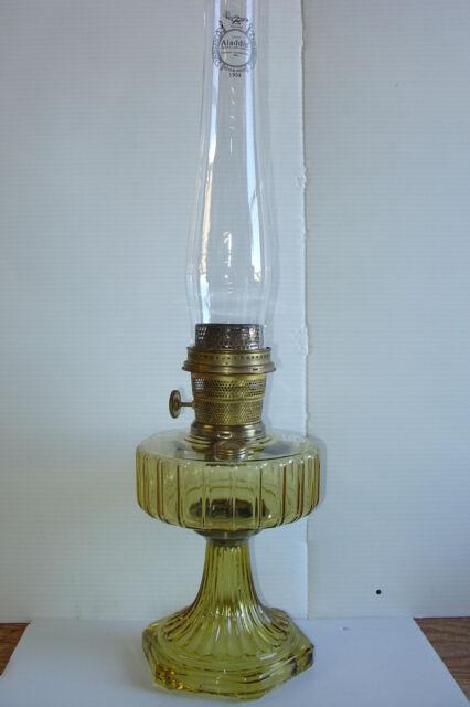 Solid Amber Crystal Corinthian B106 Nu-Type Model B Aladdin Kerosene Table Lamp
