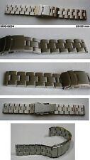 EDELSTAHLUHRBAND MASSIV Sicherheitsfaltschließe mit seitlichen Drückern 20/20 mm