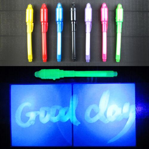 2-in-1 Marker /& Built in Ultra Violet LED Light Invisible Ink Pen Multifunction